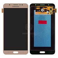 Дисплей для Samsung Galaxy J7 2016 (J7108, J710F, J710FN, J710H, J710M) Original Gold с сенсором #GH97-18855A