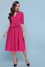Сукня в діловому стилі з креп-костюмки
