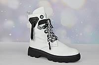 Белые зимние женские ботинки AQUAMARIN ТУРЦИЯ