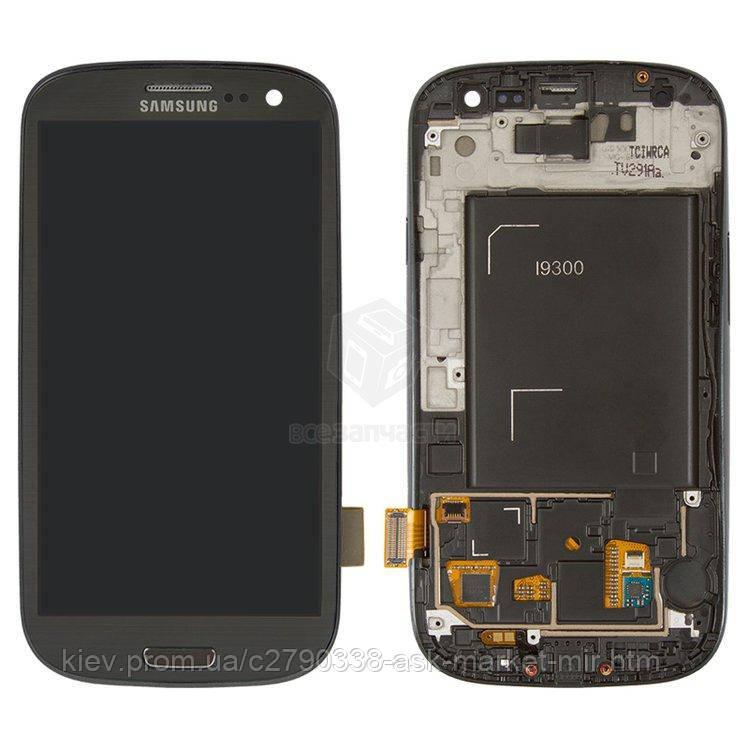Оригинальный дисплей с сенсором и рамкой для Samsung Galaxy S3 I9300