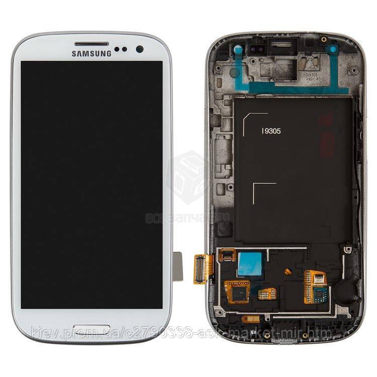 Оригінальний дисплей з сенсором і рамкою для Samsung Galaxy S3 I9305