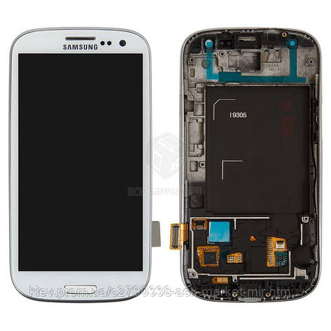 Дисплей для Samsung Galaxy S3 I9305 Original White з сенсором і рамкою #GH97-14106C, фото 2