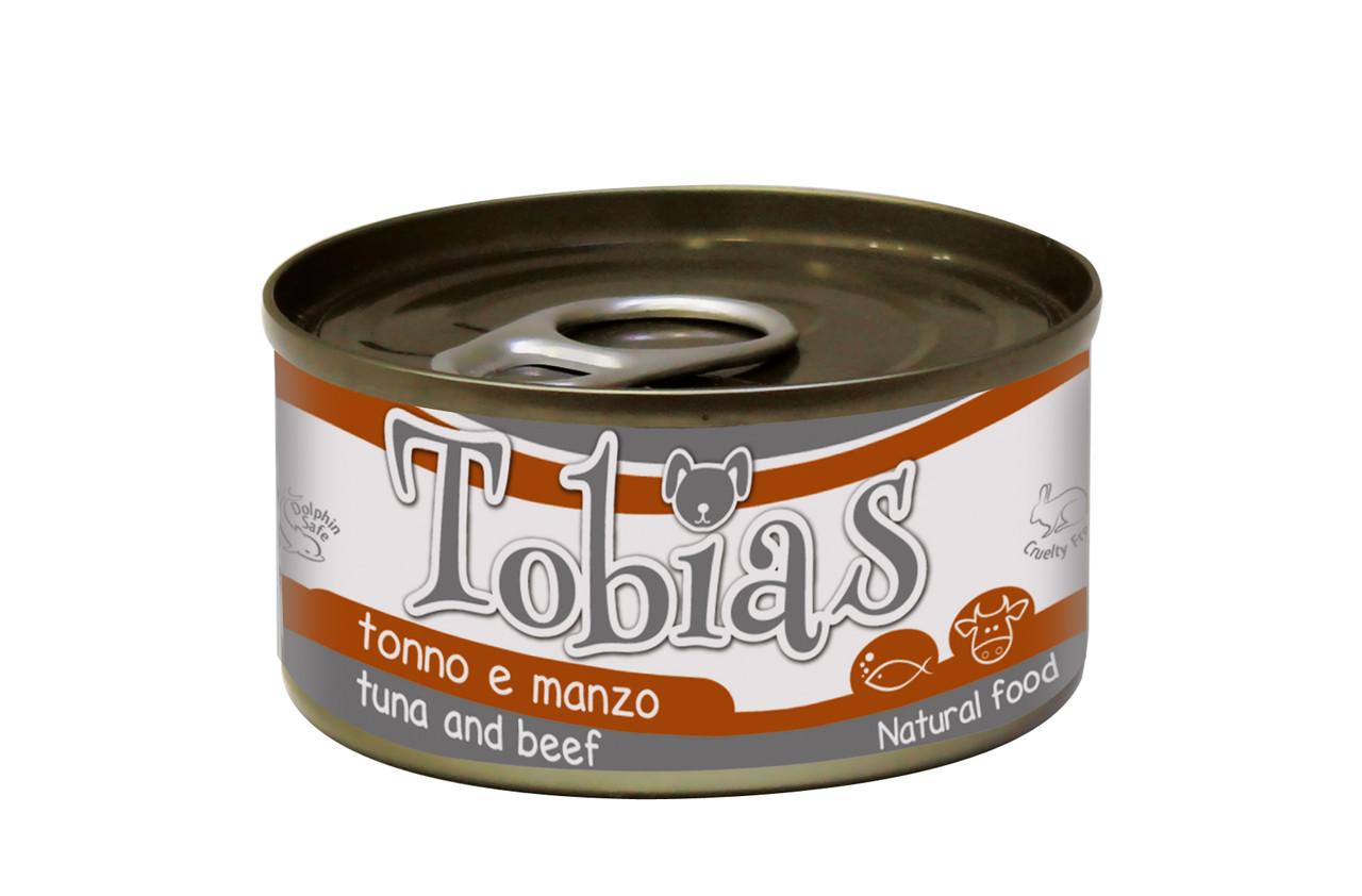 Консервированный корм для собак TOBIAS тунец с говядиной 170г