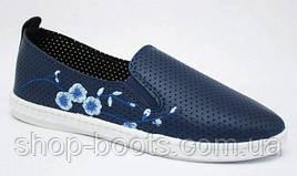 Женские мокасины оптом SV. 37-40 рр.  Модель СВ 1015 синий