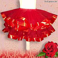 Очень пышная нарядная красная юбка пачка для девочки. Смотрите видеообзор платья в описании ниже.