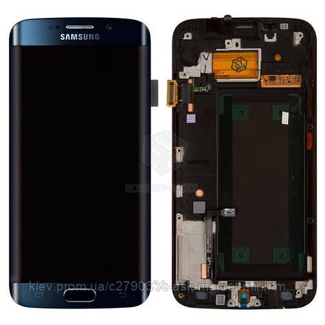 Дисплей для Samsung Galaxy S6 Edge G925F Dark Blue з сенсором і рамкою, фото 2