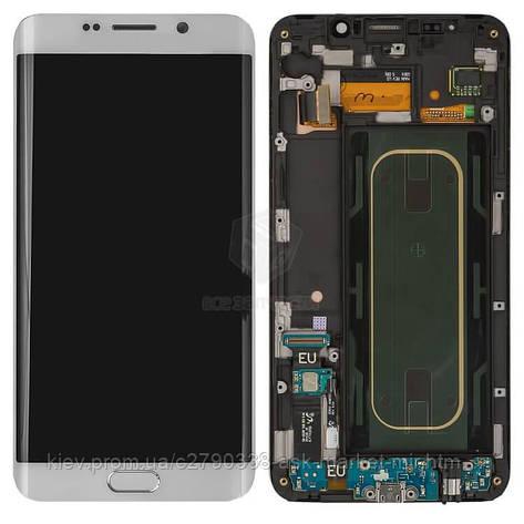 Дисплей для Samsung Galaxy S6 EDGE+ G928 Original White з сенсором і рамкою #GH97-17819C, фото 2