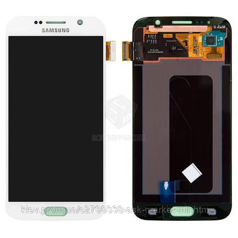 Дисплей для Samsung Galaxy S6 G920F, Galaxy S6 Duos G920FD Original White з сенсором #GH97-17260B, фото 2