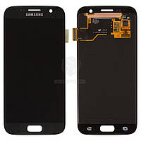 Дисплей для Samsung Galaxy S7 G930F, Galaxy S7 Duos G930FD Original Black с сенсором #GH97-18523A