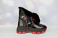 Кожаные зимние женские ботинки AQUAMARIN ТУРЦИЯ