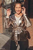 Куртка с лаковым блеском золотистая S,M,L