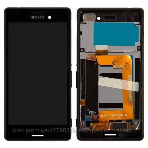 Дисплей для Sony Xperia M4 Aqua Dual (E2312, E2333, E2363) Original Black с сенсором и рамкой #124TUL0015A, фото 2
