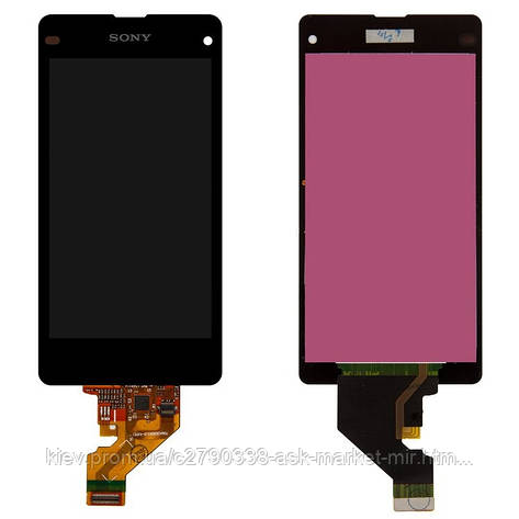 Дисплей для Sony Xperia Z1 Compact D5503 Original Black с сенсором, фото 2