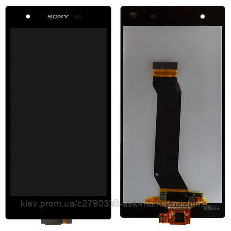 Дисплей для Sony Xperia Z1s C6916 L39t Original Black с сенсором, фото 2