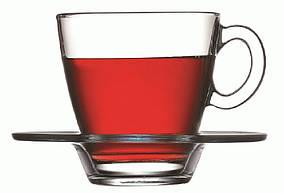 Набор чашек и блюдец для чая 6 шт. Pasabahce Aqua