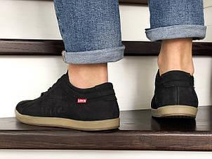 Мужские кроссовки (туфли) Levis, нубук,черные 42р, фото 2