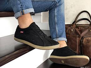 Чоловічі кросівки (туфлі) Levis, нубук,чорні 42р, фото 2