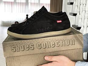 Мужские кроссовки (туфли) Levis, нубук,черные 42р, фото 3