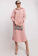 Модное платье–рубашка миди Tendi (46–52) в расцветках, фото 1