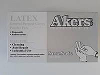 Латексні рукавички Akers , 100 шт, розмір XL
