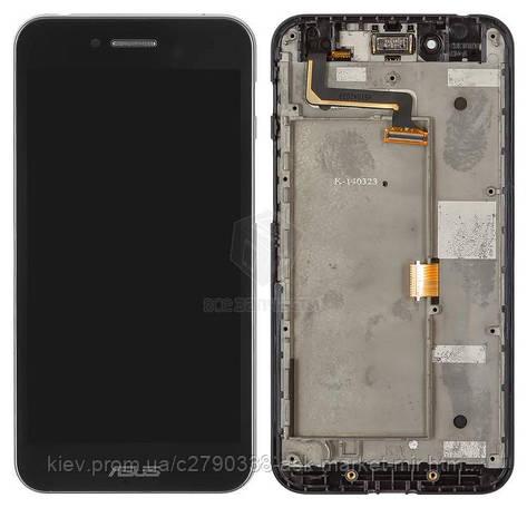 Дисплей для Asus PadFone S PF500KL Original Black с сенсором и рамкой, фото 2