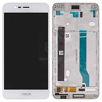 Дисплей для Asus ZenFone 3 Max ZC520TL Original White с сенсором и рамкой