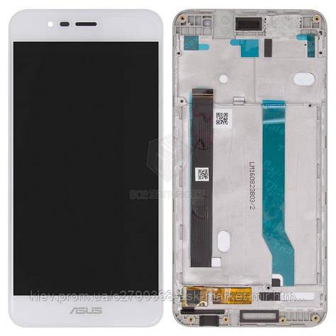 Дисплей для Asus ZenFone 3 Max ZC520TL Original White с сенсором и рамкой, фото 2