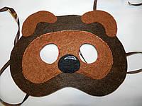 Карнавальная маска Медведь Винни Пух .  Детские сюжетно ролевые игры., фото 1