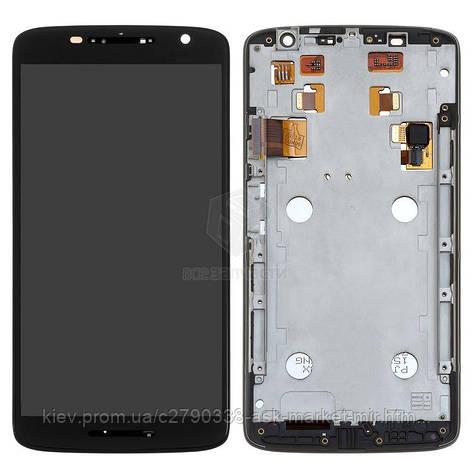 Дисплей для Motorola Moto X Play (XT1561, XT1562, XT1563, XT1564) Original Black с сенсором и рамкой, фото 2