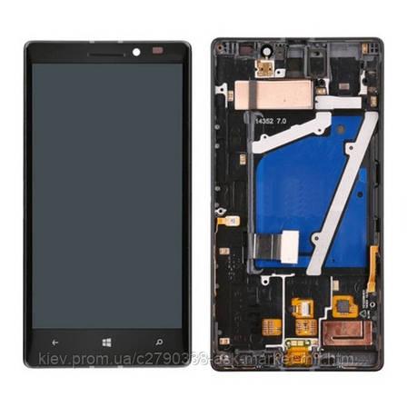 Дисплей для Nokia Lumia 930 Original Black с сенсором и рамкой, фото 2