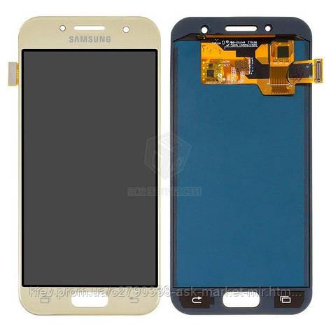 Дисплей для Samsung Galaxy A3 2017 (A320F, A320Y) Gold з сенсором TFT Без регулювання яскравості, фото 2