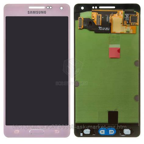 Дисплей для Samsung Galaxy A5 (A500F, A500FU, A500H) Original Pink з сенсором #GH97-16679E, фото 2