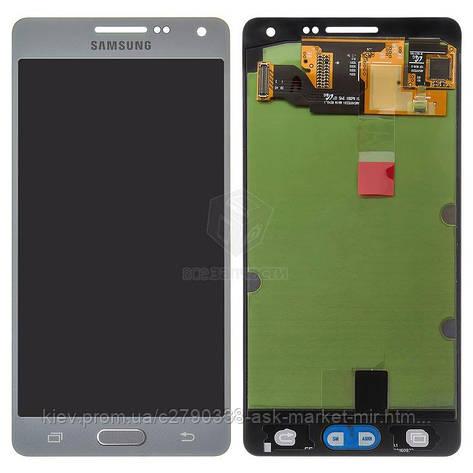 Дисплей для Samsung Galaxy A5 (A500F, A500FU, A500H) Original Silver с сенсором #GH97-16679C, фото 2