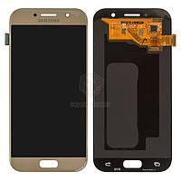 Дисплей для Samsung Galaxy A5 2017 A520F Original Gold с сенсором #GH97-19733B