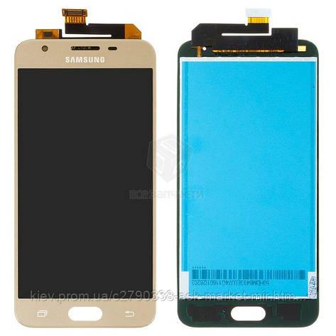 Дисплей для Samsung Galaxy J5 Prime G570F Gold с сенсором, фото 2