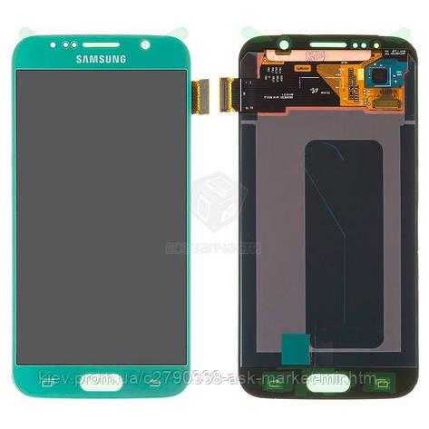 Дисплей для Samsung Galaxy S6 G920F, Galaxy S6 Duos G920FD Blue с сенсором, фото 2