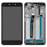 Дисплей для Xiaomi Redmi 4A Original Black с сенсором и рамкой