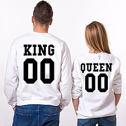 Парные именные свитшоты KING/QUEEN [Цифры можно менять] (50-100% предоплата)