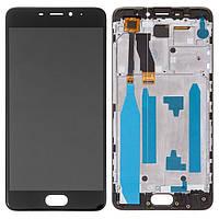 Дисплей для Meizu M5 Note (M621C, M621H, M621M, M621Q) Original Black с сенсором и рамкой
