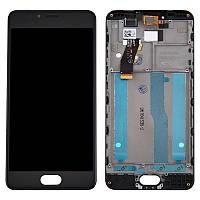 Дисплей для Meizu M5s M612H (M5s Mini) Original Black с сенсором и рамкой