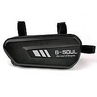 Велосипедная сумка B-Soul в раму черная, фото 1