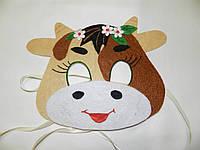 Карнавальная маска Коровы с цветком, фото 1