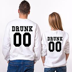 Парные именные свитшоты Drunk [Цифры можно менять] (50-100% предоплата)