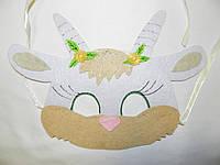 Карнавальная маска Коза белая, фото 1
