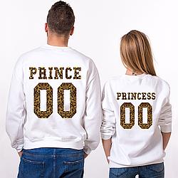 Парные именные свитшоты PRINCE/PRINCESS - Crowns [Цифры можно менять] (50-100% предоплата)
