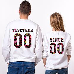 Парные именные свитшоты Together Since - Love [Цифры можно менять] (50-100% предоплата)
