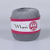 100% мерсеризованный хлопок(100г/565м)Madam Tricote Maxi 4651(серый)