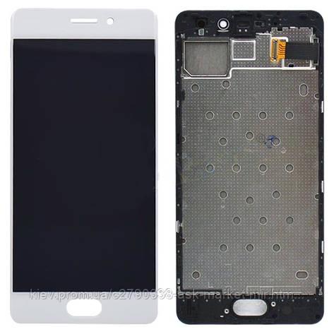 Дисплей для Meizu Pro 7 M792H Original White с сенсором и рамкой, фото 2