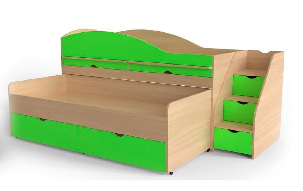Двоспальне ліжко Art-In-Head AЛ-22 ТРАВИЧКА бук+лайм