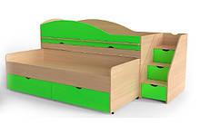 Двоспальне ліжко Art-In-Head AЛ-22 ТРАВИЧКА Дуб Сонома+Лайм